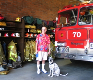 Marty Dottie at the firestation[1]