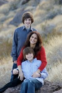 Beatrice and her boys   Photo: Scott Avra