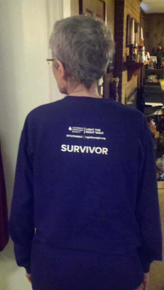 Patsy with survivor shirt