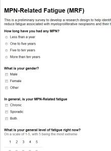 Fatigue Questionnaire