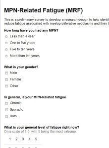 Fatigue Questionnaire
