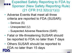 FDA SAE