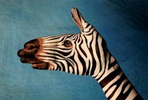 Zebra Hand Art