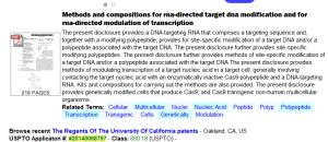 CRISPR patent 1