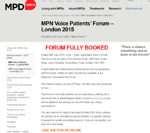 MPD Voice Patients Forum