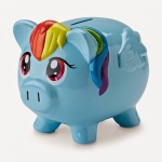 piggy bank blue