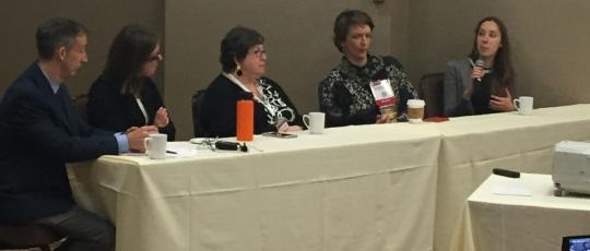 The CREATE Panel: John Crispino, Phd, Northwestern, Dr. Jeanne Palmer, Mayo/Scottsdale, Dr. Tsiporah Shore, Weill-Cornell, Dr. Ann Mulally, Harevard, Rachel Haurwitz, PhD, Caribou Biosciences
