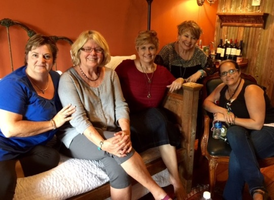 In Texas with Kathy: Shelley, Cyndy, Marina, Bonnie and Genny.