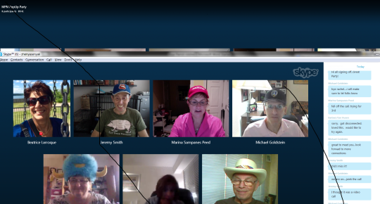 popup skype party